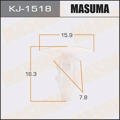 Клипса автомобильная (автокрепеж), уп. 50 шт. Masuma KJ-1518