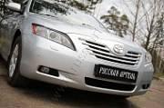 Накладки на передние фары (реснички) Русская Артель Toyota Camry V40 2009-2011