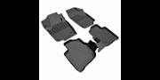 Коврики в салон Rezkon полиуретан серый 1035020200 Volkswagen Polo (6G) Liftback 2020-