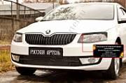 Накладки на передние фары (реснички) Русская Артель Skoda Octavia A7 2014-