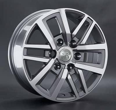 Диск колесный Replay TY238 7,5xR17 6x139,7 ET25 ЦО106,1 серый глянцевый с полированной лицевой частью 080845-040732007