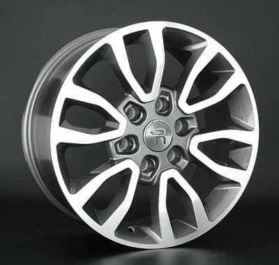 Диск колесный Replay TY175 7,5xR17 6x139,7 ET25 ЦО106,1 серый глянцевый с полированной лицевой частью 032518-070115007