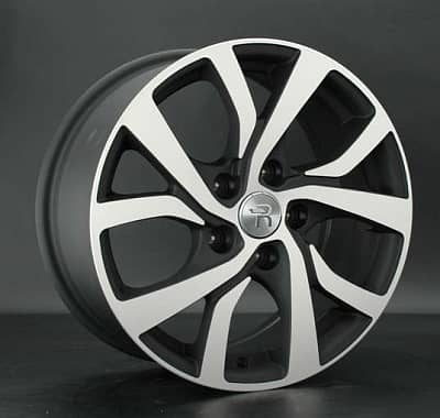 Диск колесный Replay MI57 7xR18 5x114,3 ET38 ЦО67,1 черный матовый с полированной лицевой частью 030563-160163004