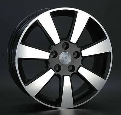 Диск колесный Replay MI99 6,5xR17 5x114,3 ET46 ЦО67,1 черный матовый с полированной лицевой частью 027535-990163004