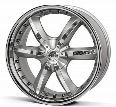 Диск колесный Antera 389 10xR22 5x120 ET40 ЦО74,1 серебристый с вставками карбон и полированным обод 389 102 G03