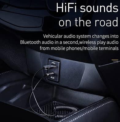 Приемник-передатчик для музыки Aux-Bluetooth Baseus, со штекером 3,5 мм, Bluetooth 5.0/4.2/4.0 Baseus BSS01100