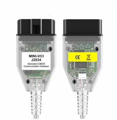 Диагностический мини-разъем Mini VCI V13.00.022 J2534 OBD2 Toyota TIS Techstream