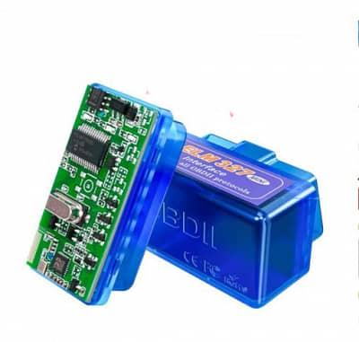 Диагностический сканер Mini ELM327 V1.5 PIC18F25K80 OBD2 Bluetooth Android/Windows синий